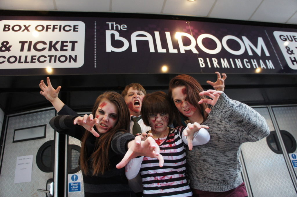 The Zombie Ball was a special sold-out charity club night held at the Birmingham Ballroom