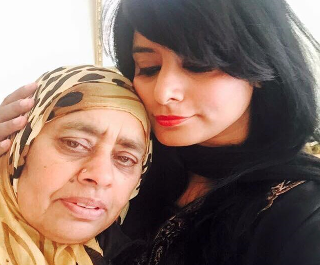 Anti-racism campaigner Maz Saleem (right) with her mother (Photograph: Maz Saleem)
