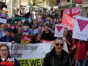 Hundreds march in Birmingham against Chechnya gay murders