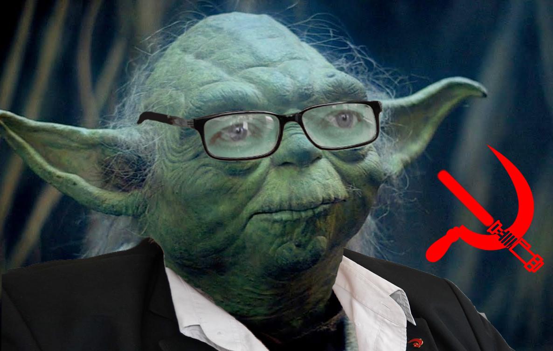 Jedi Master Yoda and Communist Graham Stevenson, always ready to fight the Empire