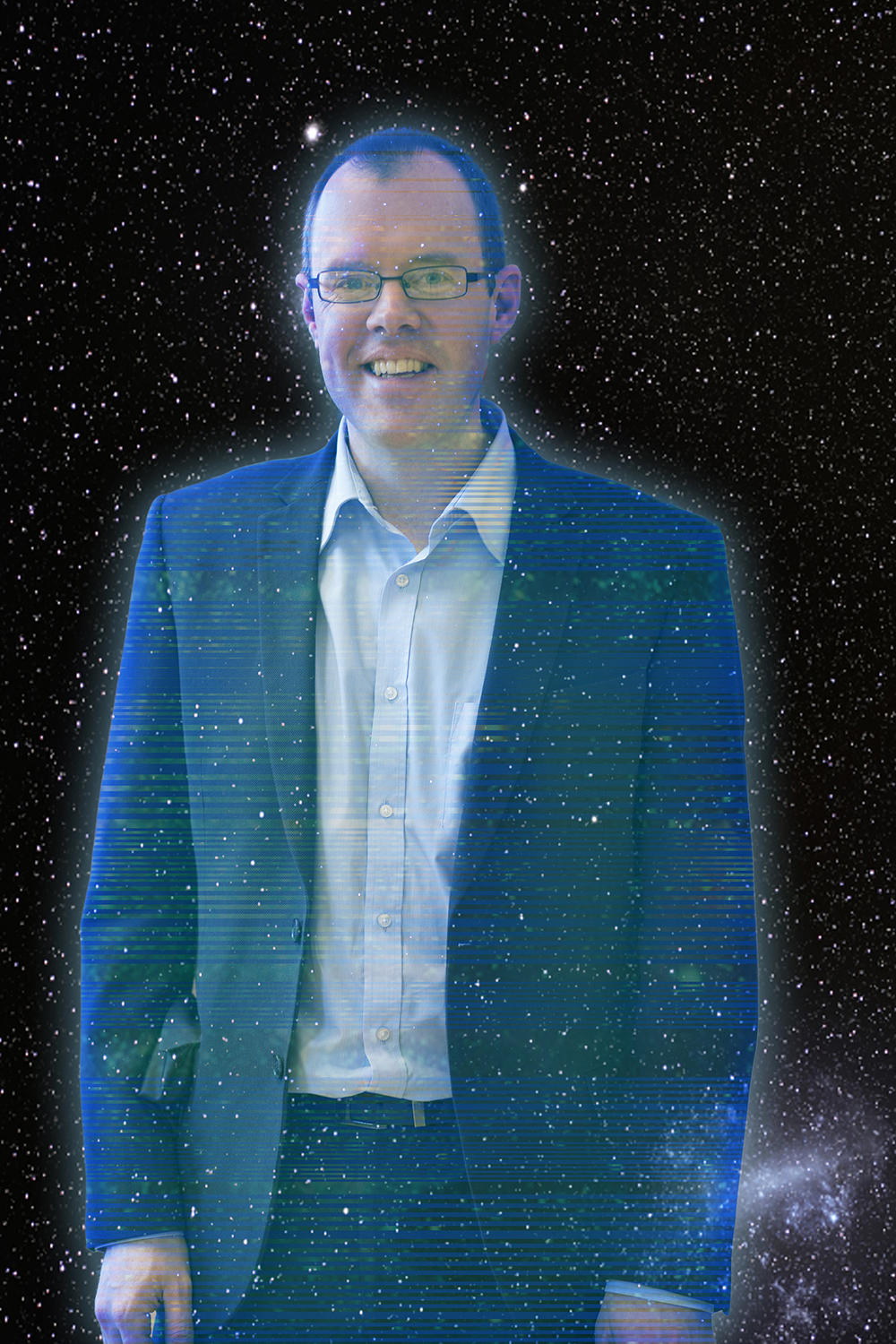 Green Party candidate James Burn as a Force Ghost because, well, er, it's environmentally friendly