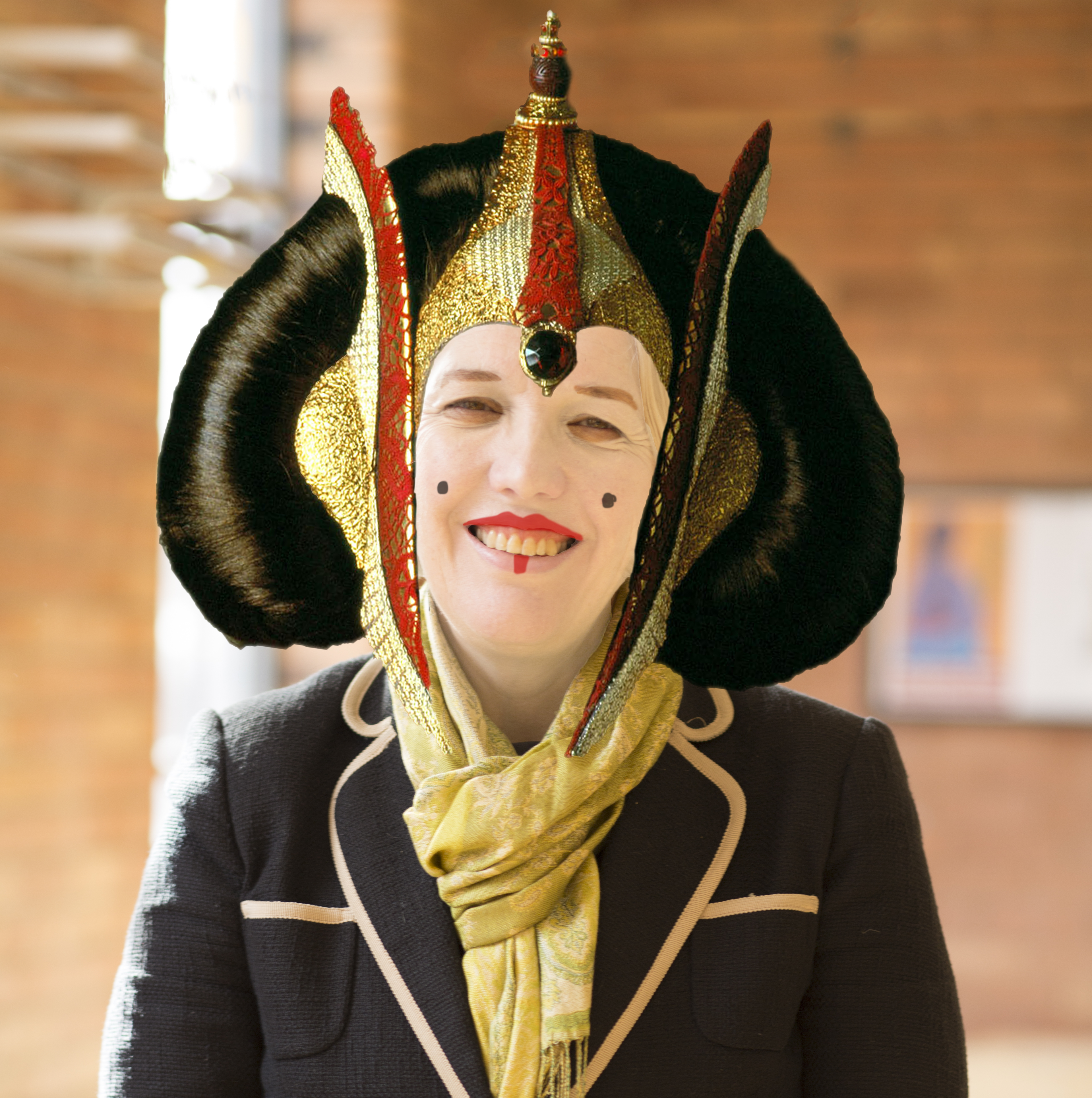 Lib Dem candidate Beverly Nielsen mocked up to look like Princess Padmé Amidala