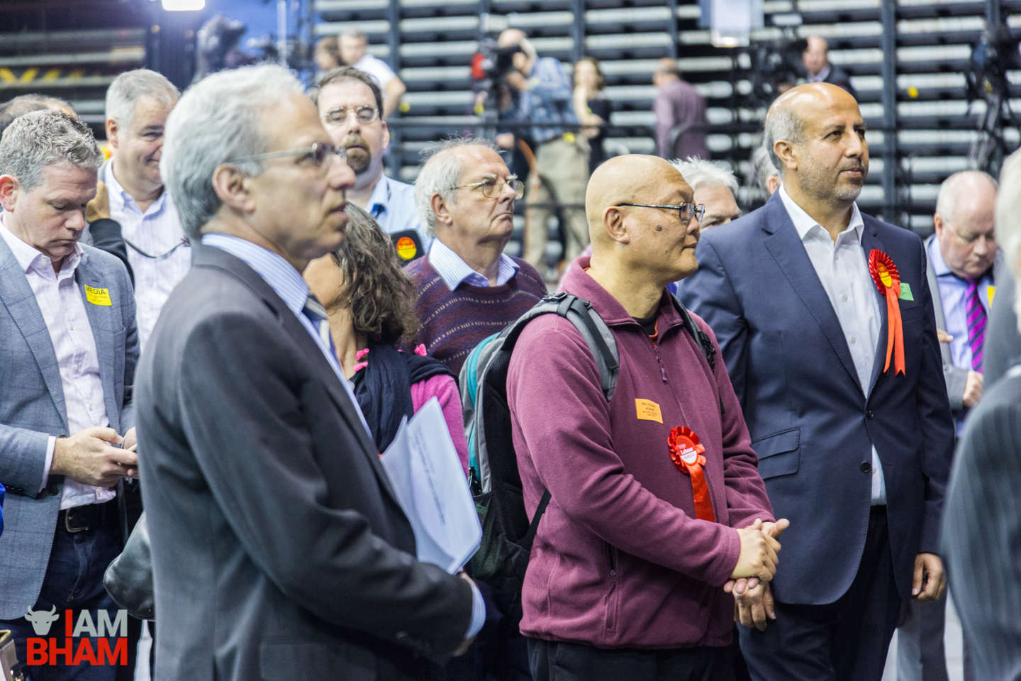 Politicians and supporters gather for West Midlands Mayoral Election announcements at the Barclaycard Arena in Birmingham