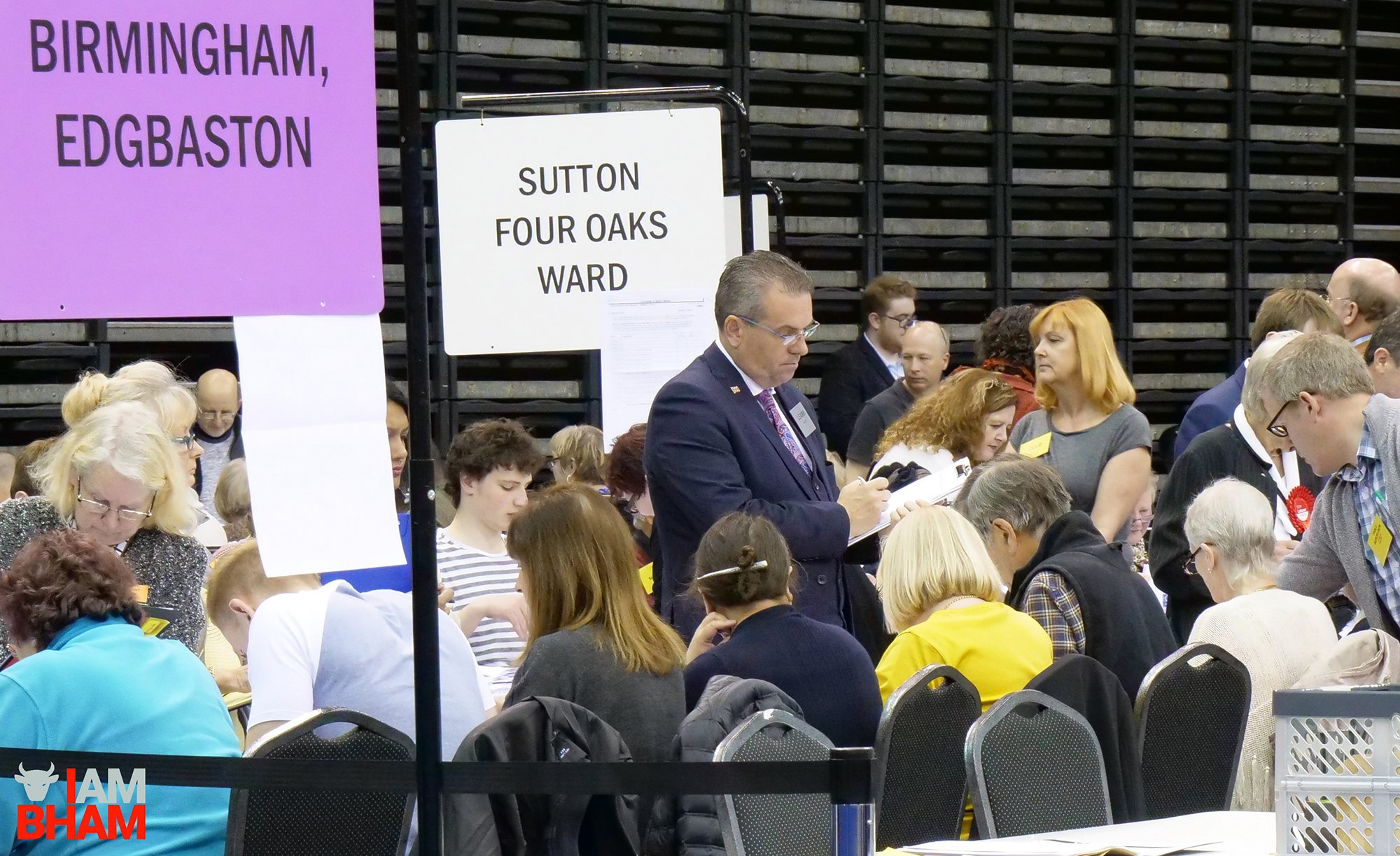 Birmingham City Council leader Cllr John Clancy at the West Midlands Mayoral Election vote count at the Birmingham Barclaycard Arena