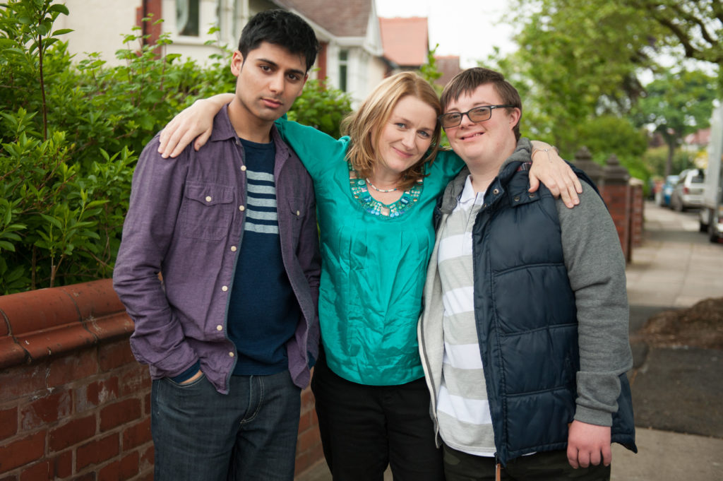 The cast of BBC drama Moving On: Eighteen, which explores the journey of a young Afghan refugee in Britain (L-R): Antonio-Aakeel, Rosie Cavaliero, and Leon Harrop