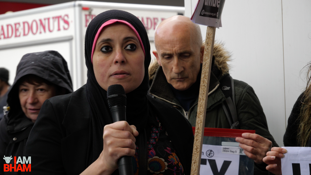 """Egyptian activist Mona el-Shazly told the crowd the terrorists weren't """"true Muslims"""""""