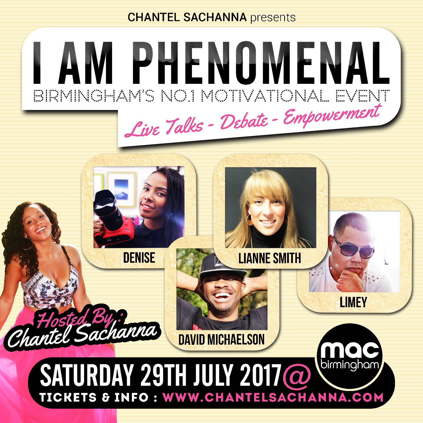 I Am Phenomenal is a motivational event with speakers discussing their careers and aspirations
