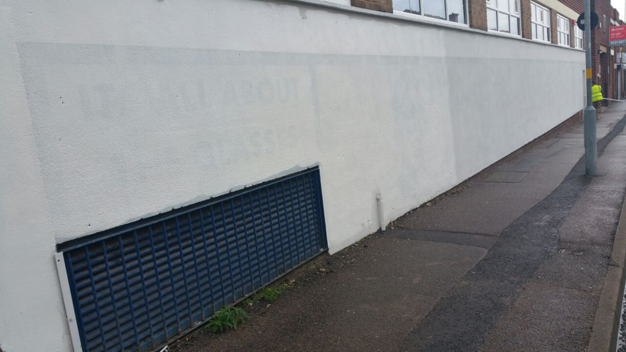 The 'Golden Boy' artwork in Lower Essex Street painted over