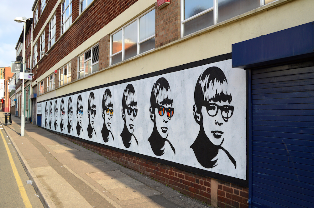 The Golden Boy artwork was unveiled in 2013 along Lower Essex Street in Birmingham