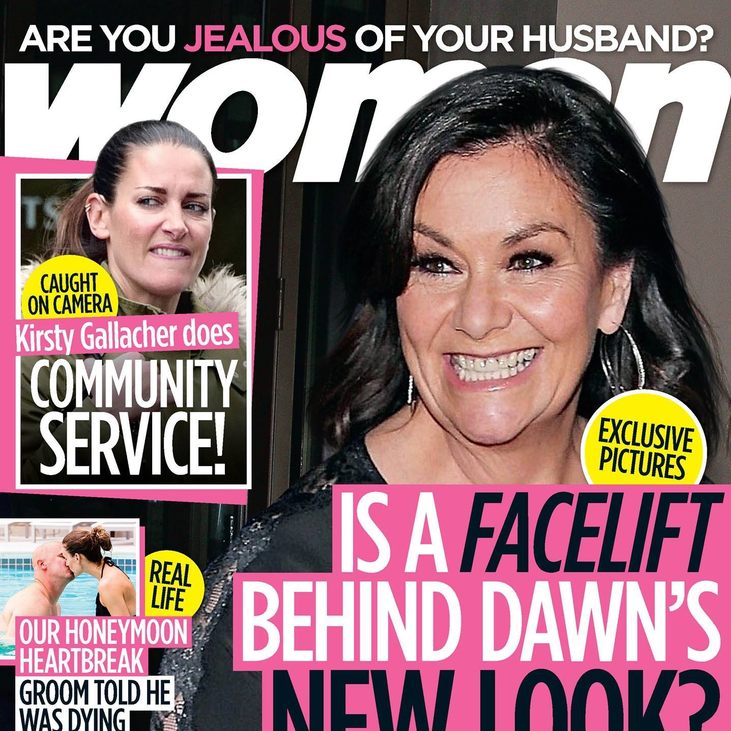 Dawn French on the October 2017 cover of Woman's magazine