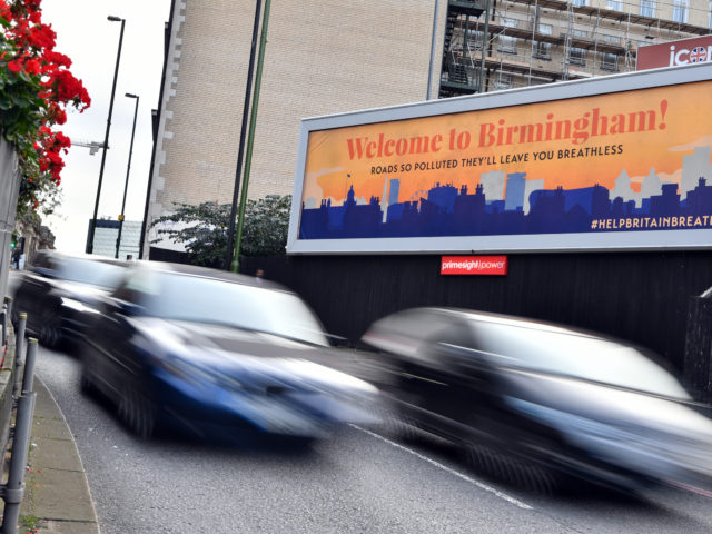 A hard-hitting billboard has gone up on Great Charles St in Birmingham to make drivers aware of the dirty air around them and the health risk this poses.