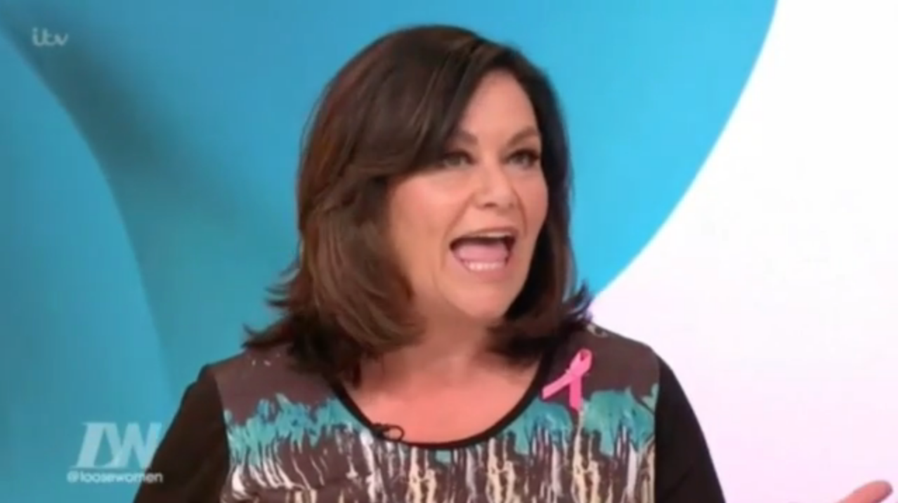 Comedian Dawn French looking youthful on ITV's Loose Women earlier this month