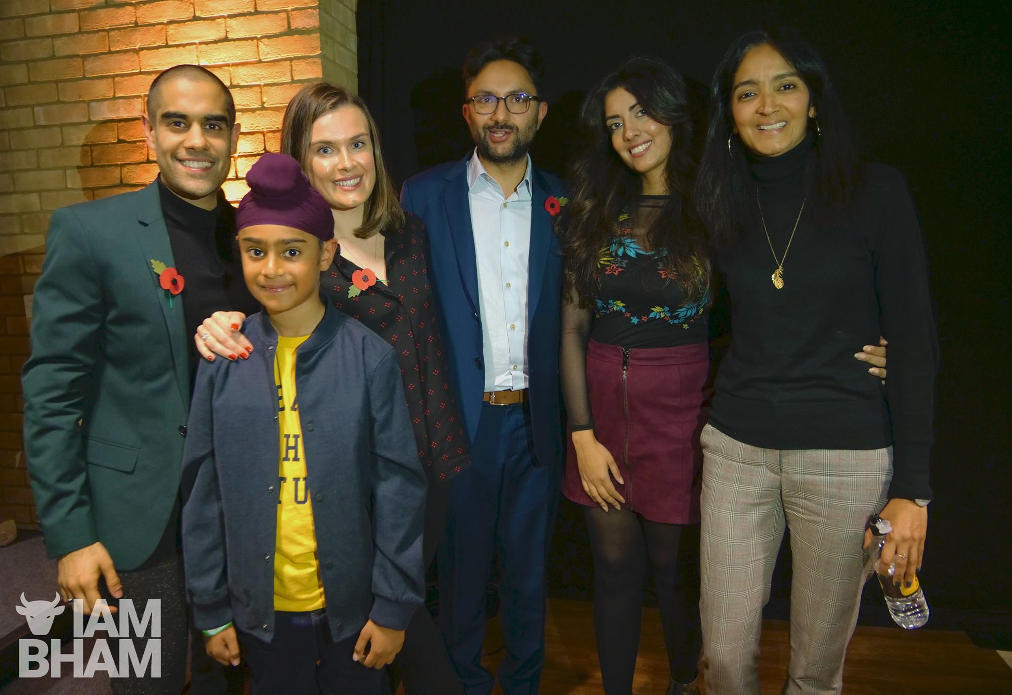 The Boy with the Topknot cast and crew members - Joined by BBC Asian Network's Noreen Khan (second right) - following a special panel Q&A and screening in Wolverhampton