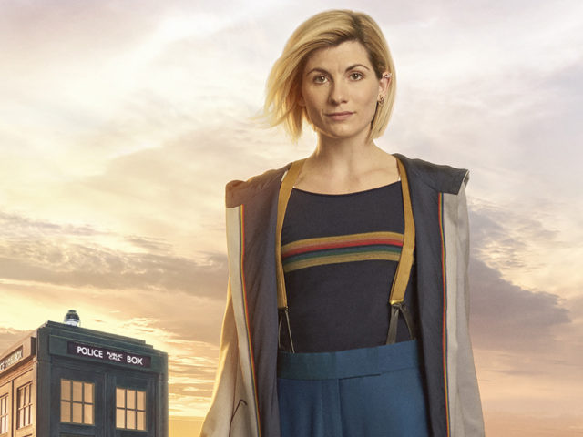 Jodie Whitaker in costume as the new Doctor Who