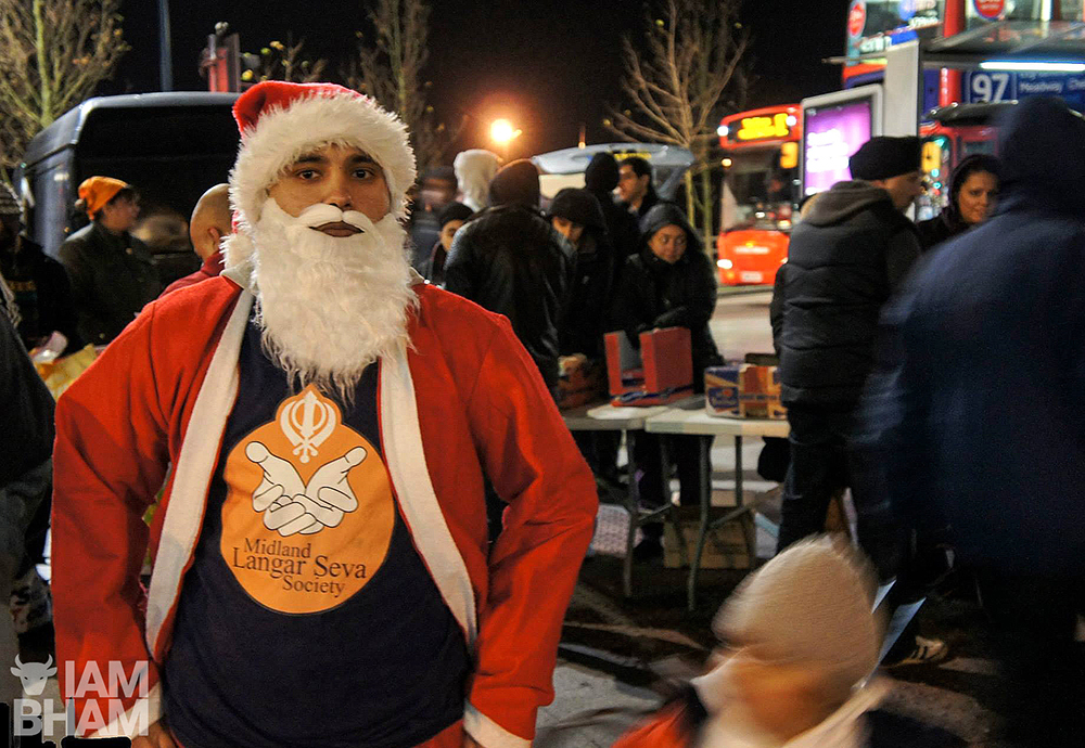 The Midland Langar Seva Society are out in Albert Street in Birmingham every night from 6.30pm