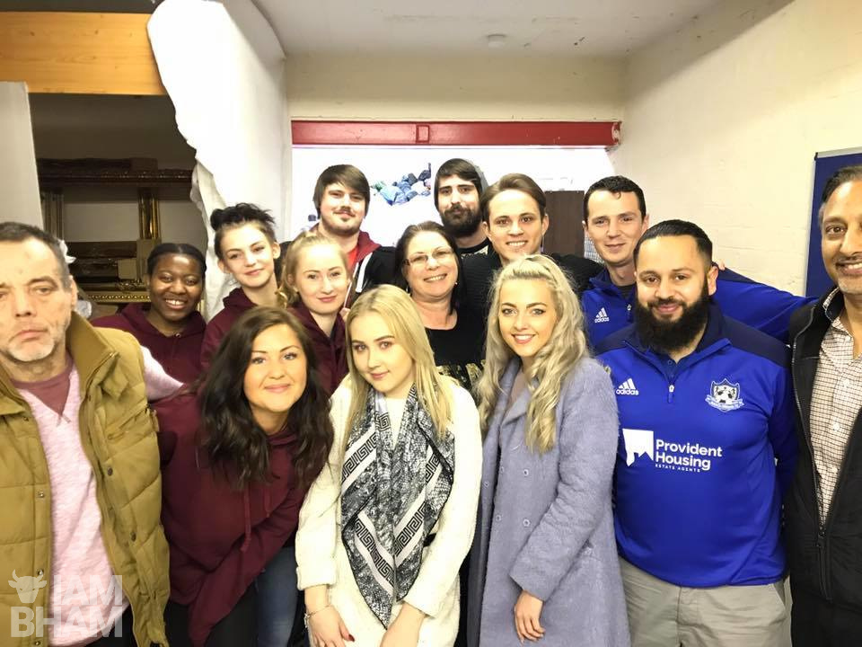 James White joined volunteers at Birmingham Homeless Outreach for Christmas Day festivities