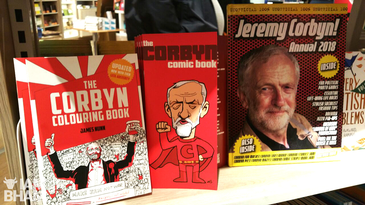 High street stores have been heavily stocked with everything from Jeremy Corbyn themed colouring books, comics, keyrings and collector's Annuals; to stylish t-shirts, coffee mugs and festive jumpers