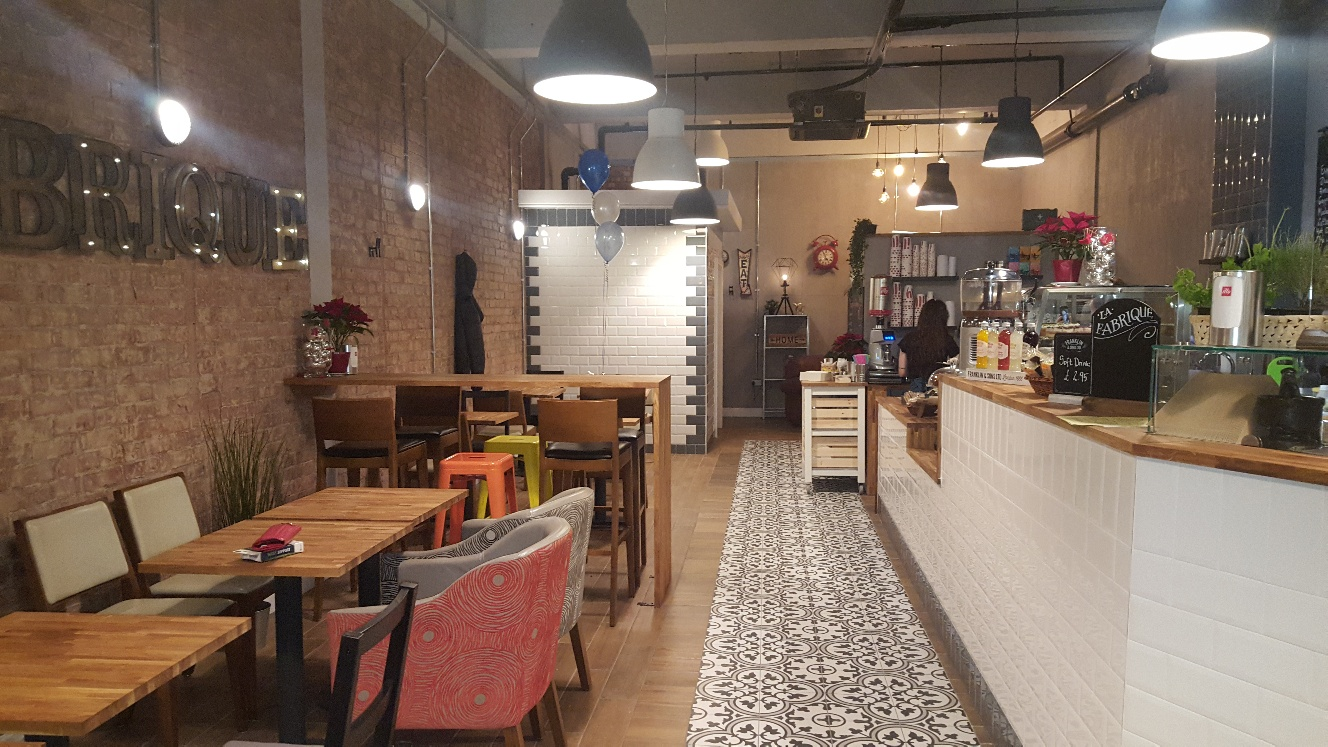 La Fabrique is a brand new eatery in Sutton Coldfield's The Gracechurch Centre