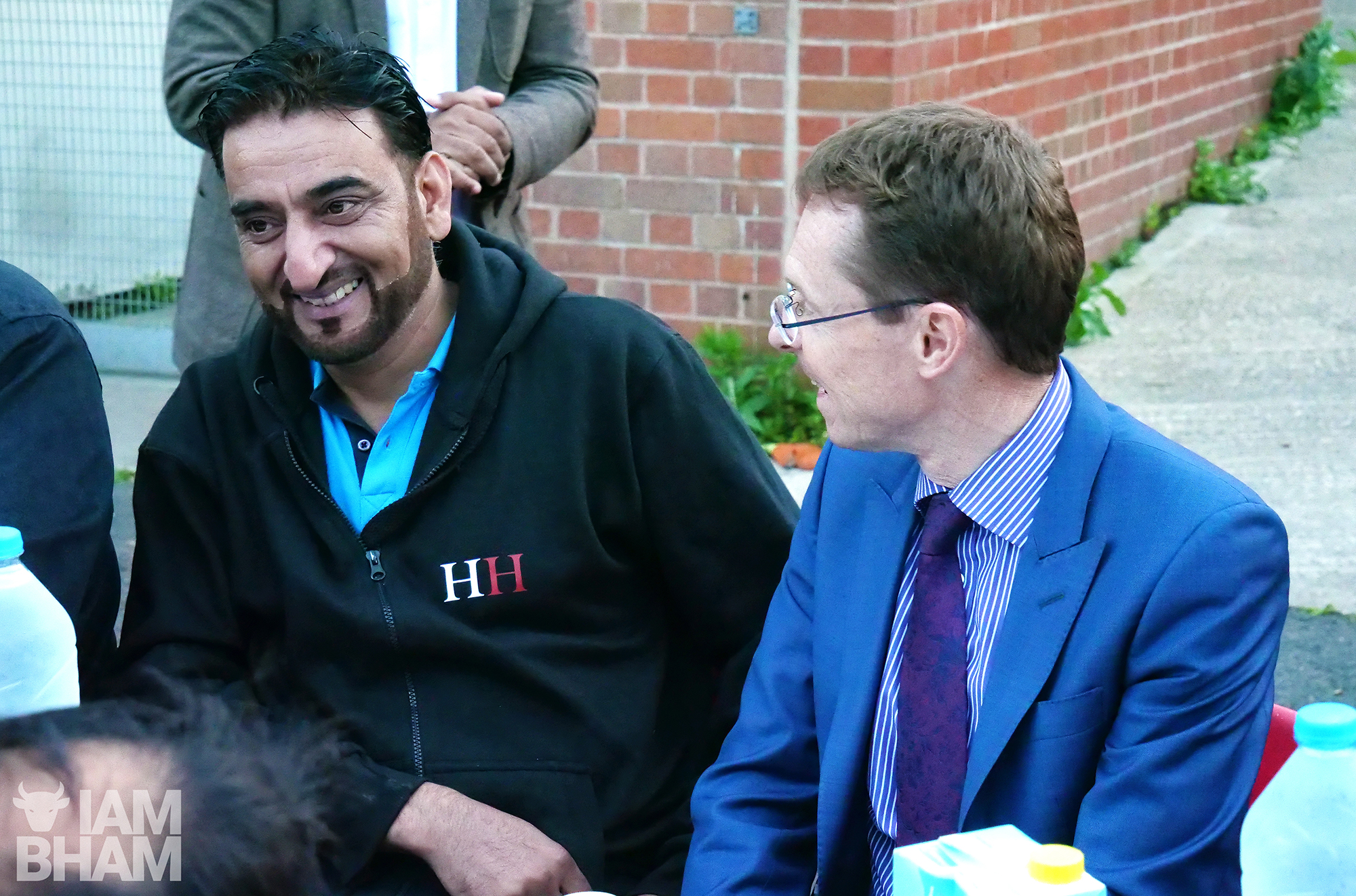 Homeless Heroes founder Javed Iqbal (left) with West Midlands Metro Mayor Andy Street