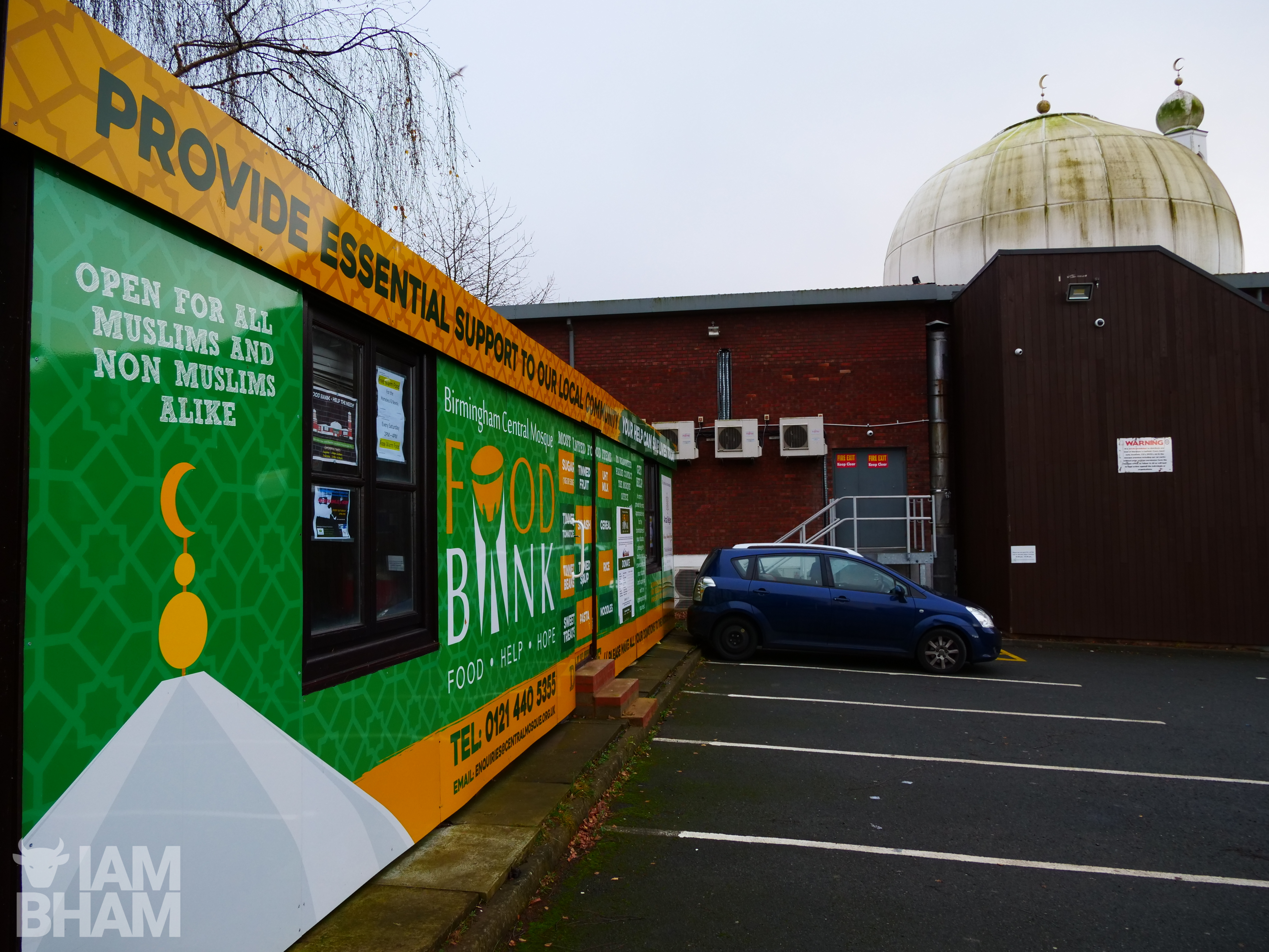 The Birmingham Central Mosque in Highgate has a food bank which is in operation throughout the year
