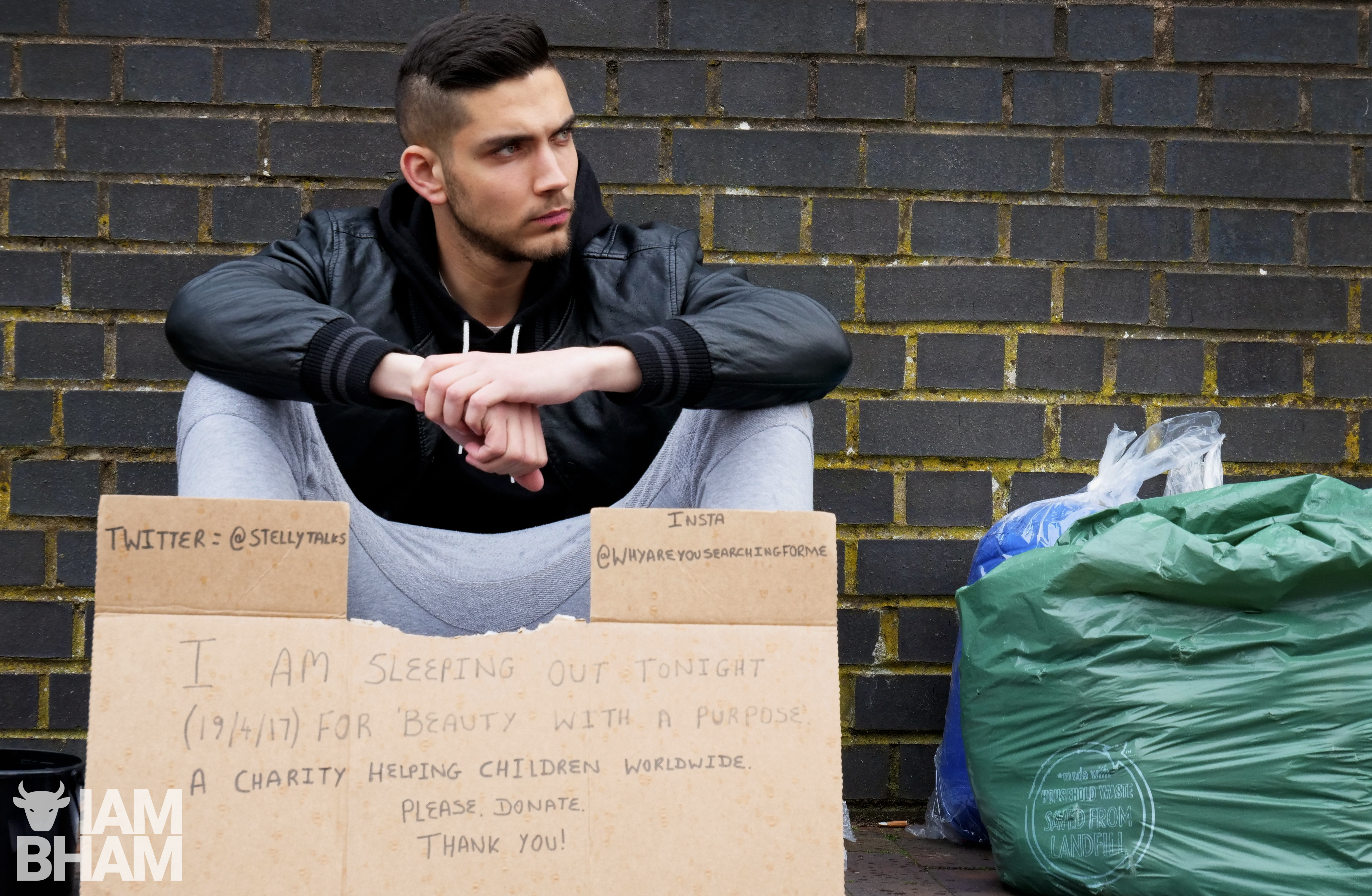 Current 'Mr Birmingham' title holder Andrew Stelly will be distributing blankets to rough sleepers on Christmas Eve