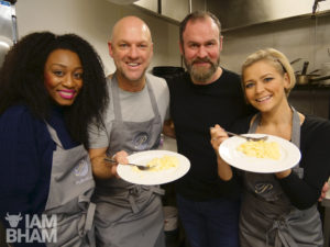Panto stars get to grips with celeb chef Glynn Purnell's eggs