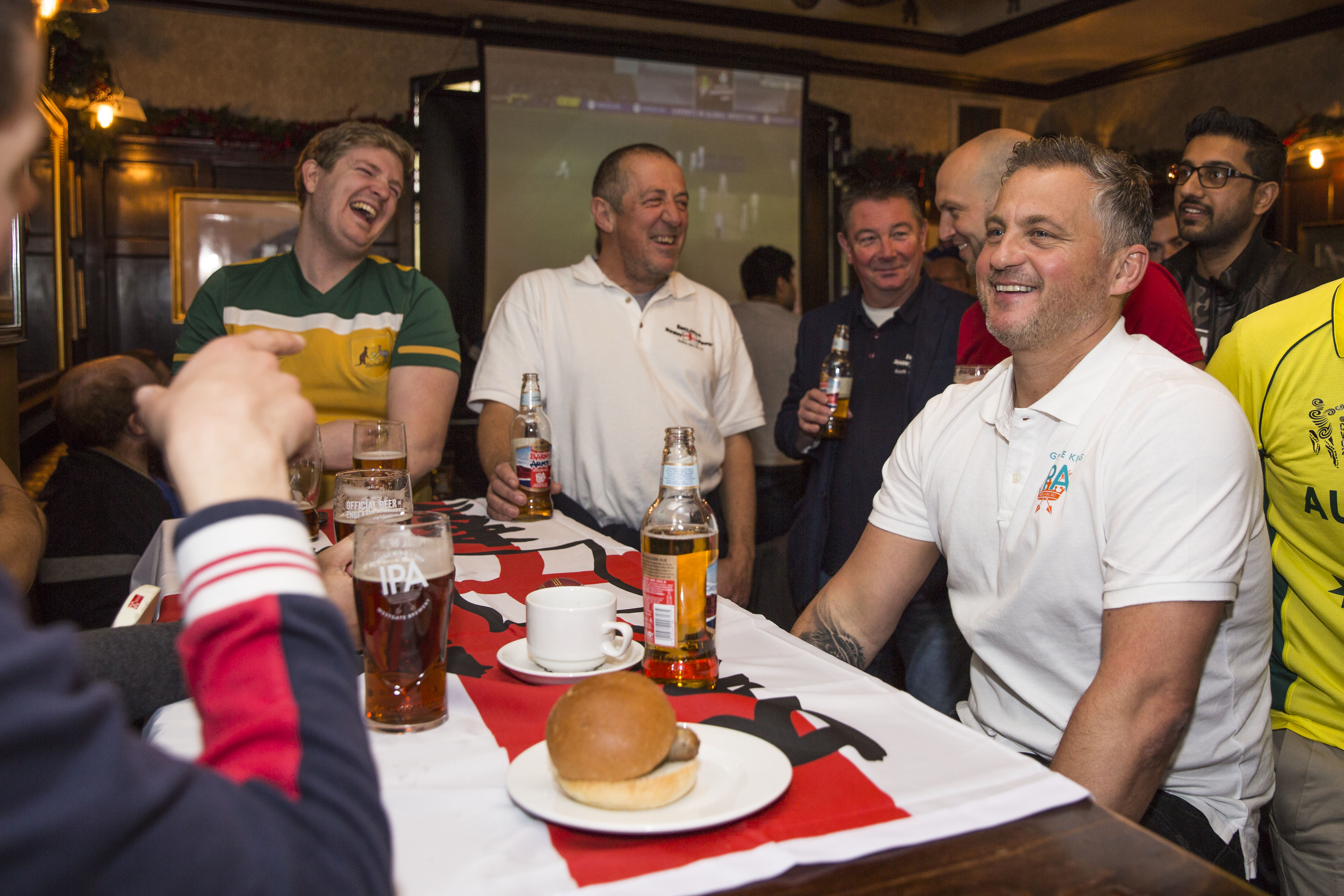 England cricket legend Darren Gough met with fans for a breakfast and a pint