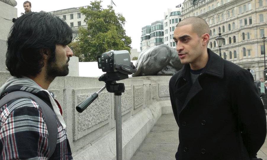 Journalist Adam Yosef and rapper music artist Lowkey Kareem Dennis