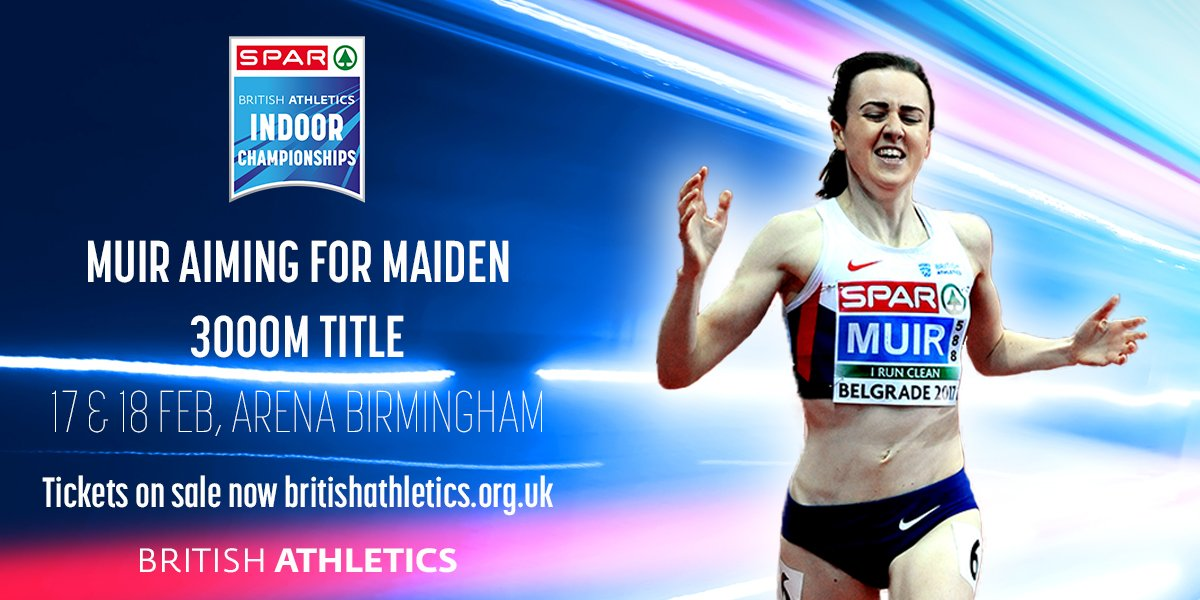 Double European Indoor champion and five-time British record holder Laura Muir will compete in the 3000m at next month's SPAR British Athletics Indoor Championships