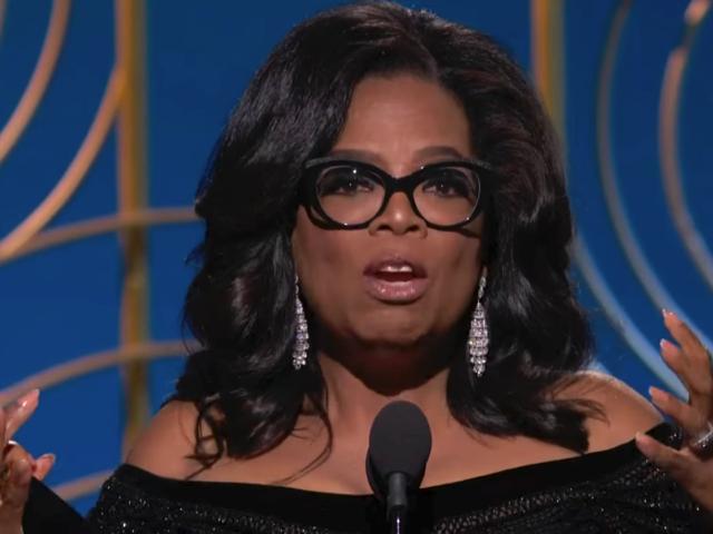 Oprah Winfrey gives a rousing and inspiring speech at the 2018 Golden Globes awards