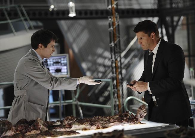 Ryan Cartwright with David Boreanaz in TV show Bones