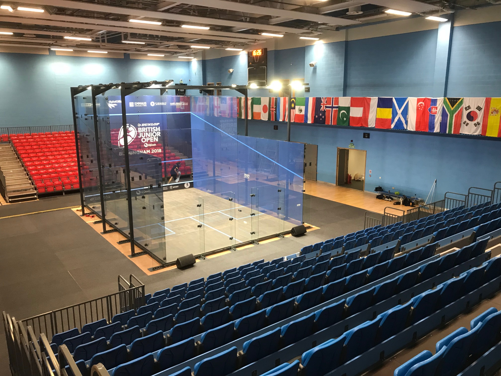 Sarah-Jane Perry will play rising star Millie Tomlinson on the all-glass show court at the new University of Birmingham Sport & Fitness's Munrow Arena