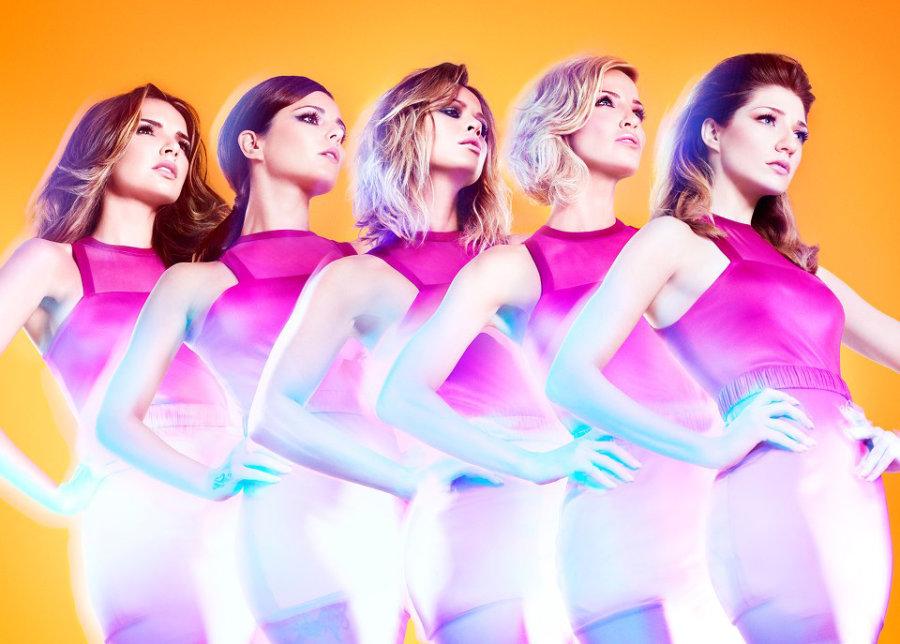 Girls Aloud members Cheryl, Nadine Coyle, Sarah Harding, Nicola Roberts and Kimberley Walsh