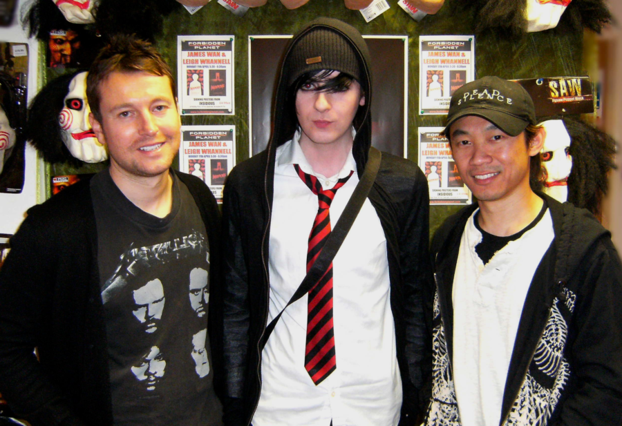 10 photos of horror film duo Leigh Whannell and James Wan in Birmingham