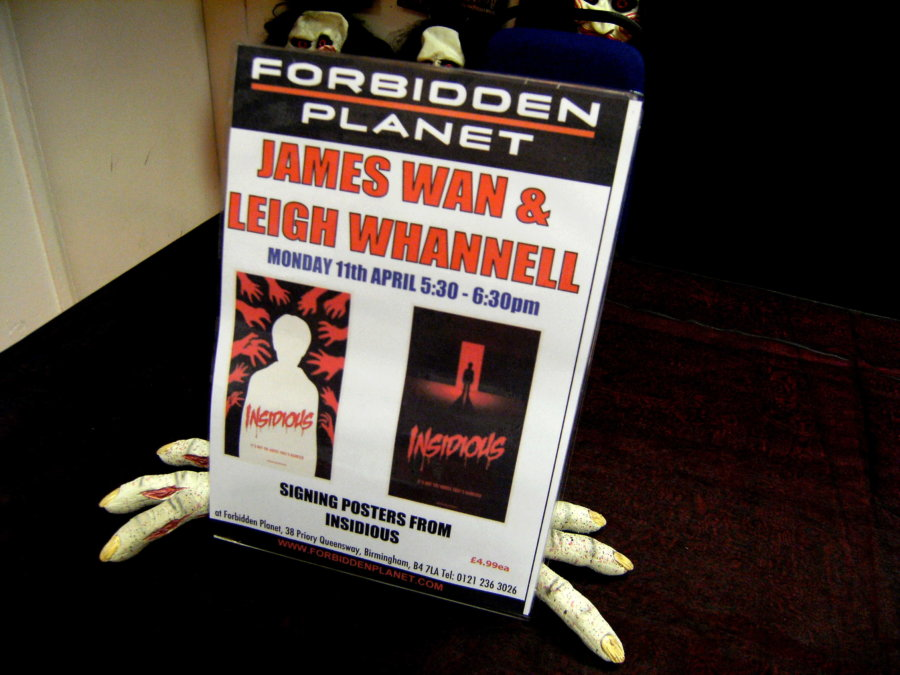 Horror movie maestros James Wan and Leigh Whannell met fans at the Forbidden Planet store in Birmingham's Priory Queensway