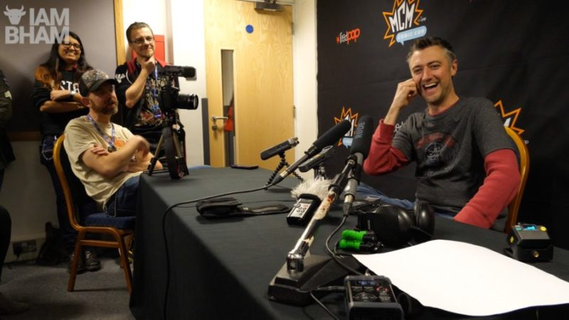 Hollywood actor Sean Gunn chatting to Olly MacNamee from I Am Birmingham