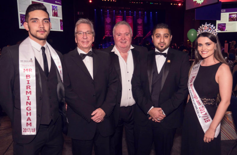 "Niamh Conway and Andrew ""Stelly"" Stylianou at the Love Brum 'Curry Kings of Birmingham' charity event in November"