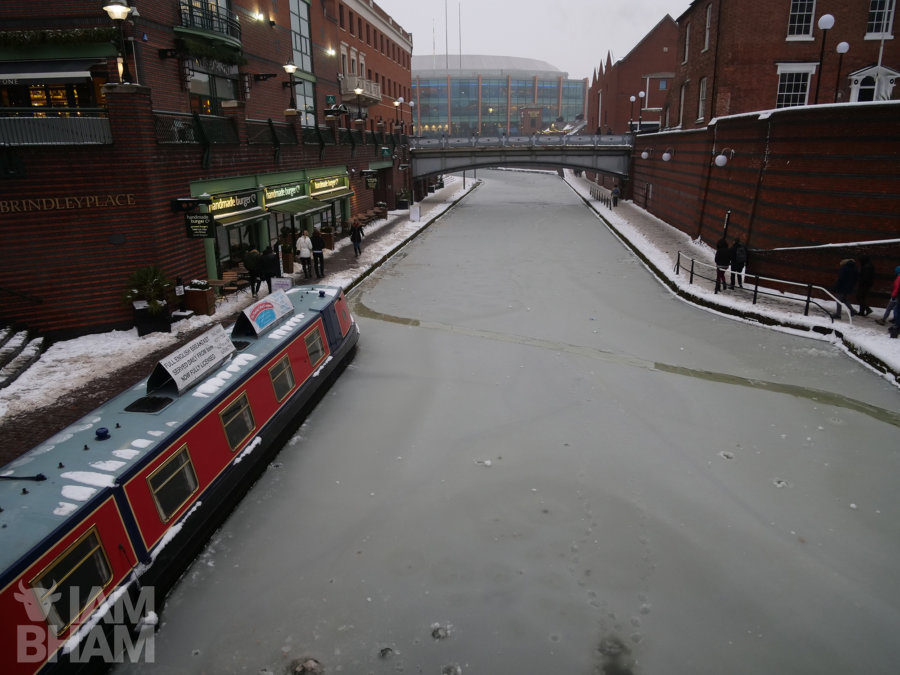 Frozen canals in Birmingham