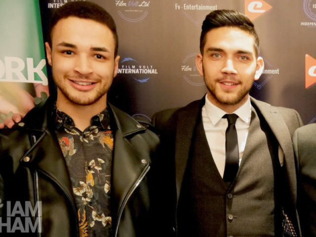 "Former Mr Birmingham and mental health educator Joshua Williams (left) with current Mr Birmingham Andrew ""Stelly"" Stylianou"