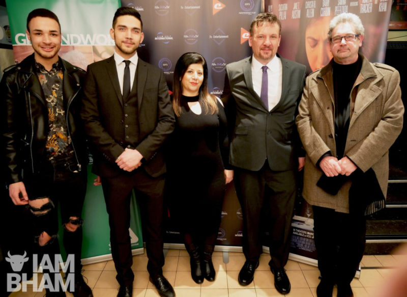 Joshua Williams, Andrew Stylianou Stelly, Xenia Karayiannis, Mark Busby at The Valley film screening at The Electric Cinema in Birmingham