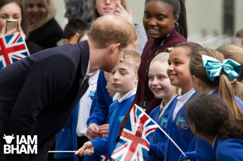Prince Harry and Meghan Markle visit Millenium Point to celebrate International Women's Day and inspire young women pursuing STEM careers, in Birmingham, UK. 08 March, 2018