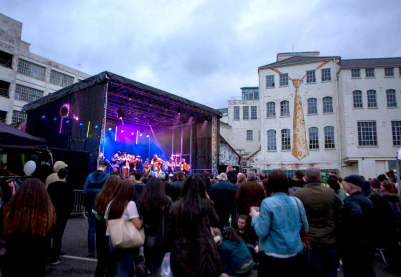 The Rock Stage at Birmingham's St Patrick's Day celebrations