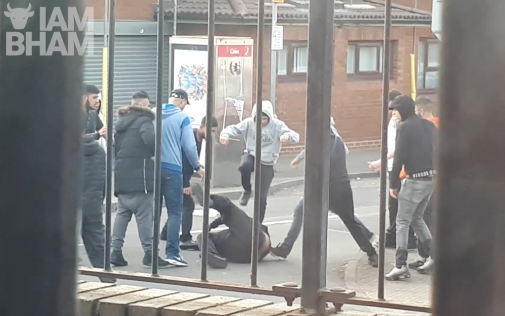 VIDEO: 'Machete' gang attack in Aston involving over 20 young men