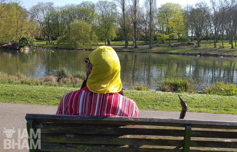 A man enjoying the view at Handsworth Park
