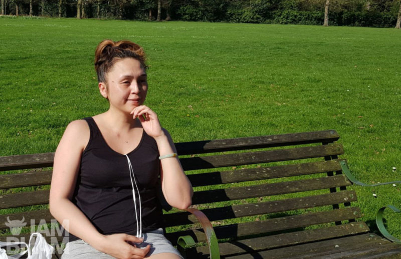 Alina enjoying the warmer weather in Handsworth Park