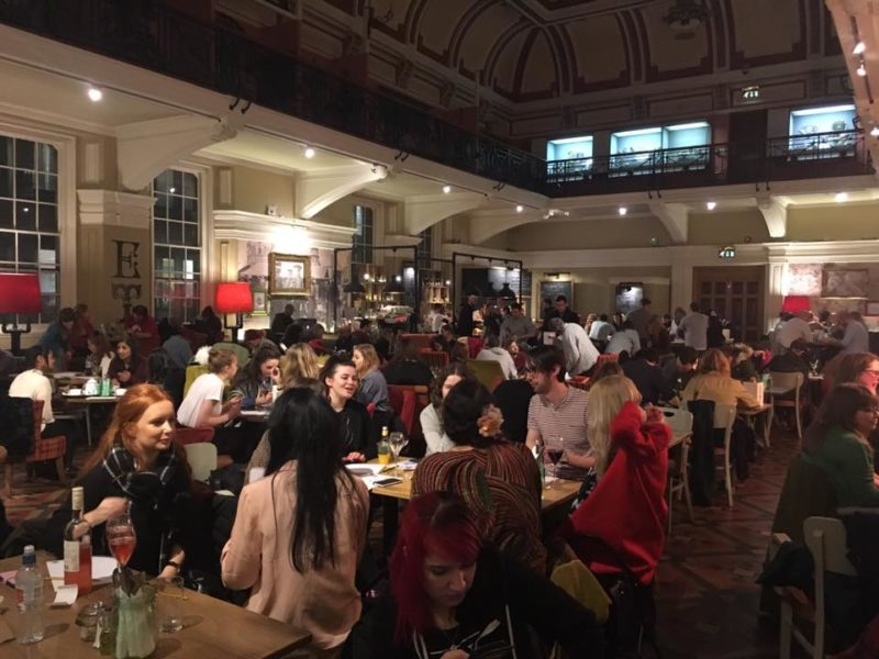 Drink and Draw at the Edwardian Tea Rooms in Birmingham