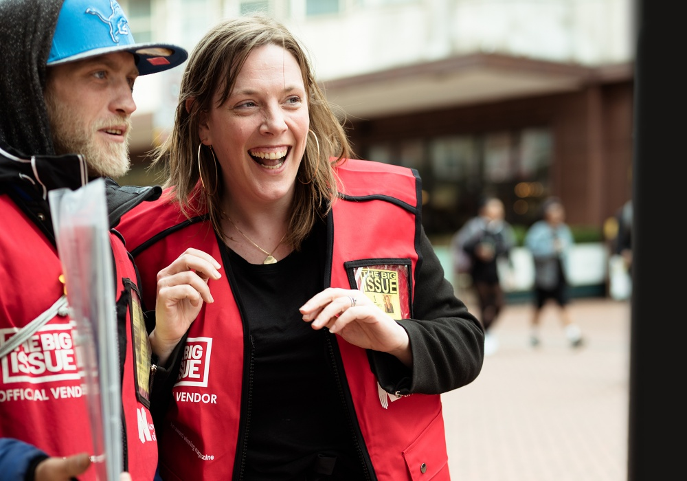 Birmingham Yardley MP Jess Phillips becomes Big Issue vendor for the day