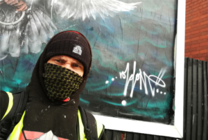 Birmingham guerrilla artist hijacks city billboard with Syria protest message