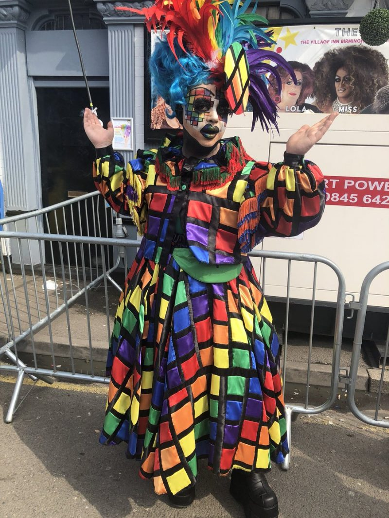 Drag artist Queeny at Birmingham Pride 2018