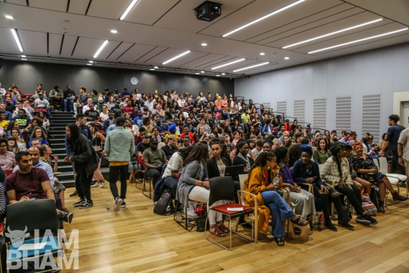 Akala launches his new book Natives: Race and Class in the Ruins of Empire at Birmingham City University in a photo by Ranjit Dhillon